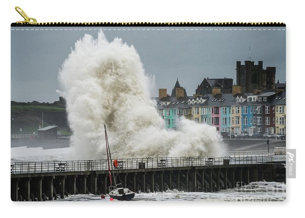 Huge Wave Hitting Aberystwyth Seafront Carry-all Pouch