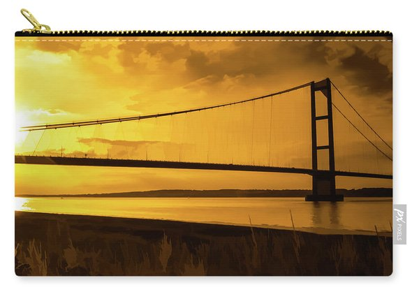 Humber Bridge Golden Sky Carry-all Pouch