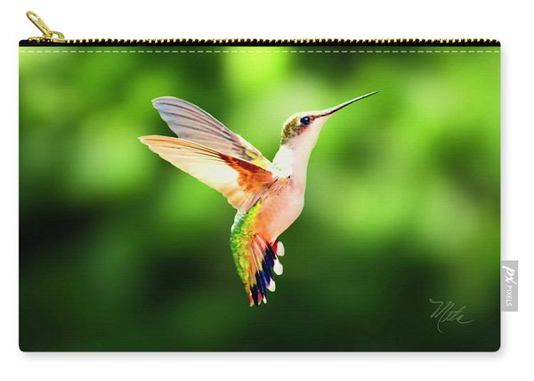 Hummingbird Hovering Carry-all Pouch