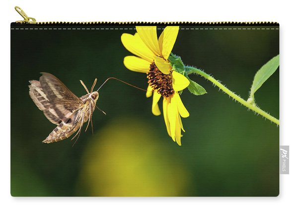 Hummingbird Moth And Sunflower  Carry-all Pouch