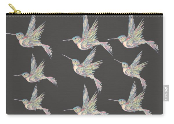 Hummingbird Pattern Carry-all Pouch