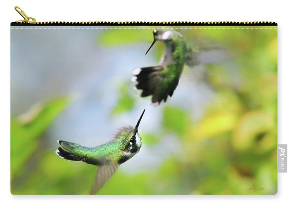 Hummingbirds Ensuing Battle Carry-all Pouch