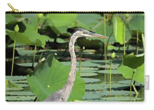 Hunting Among The Lotus Carry-all Pouch