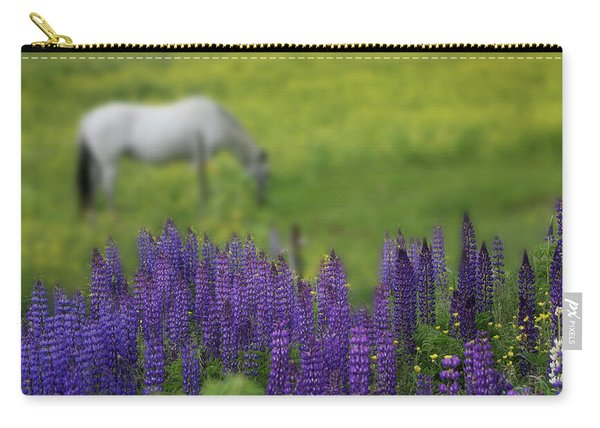 I Dreamed A Horse Among Lupine Carry-all Pouch