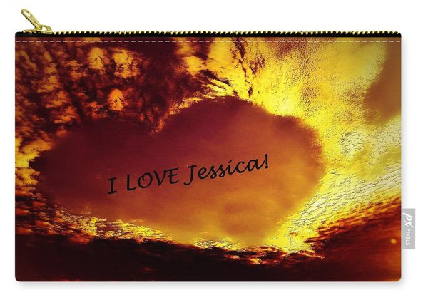 I Love Jessica Heart Carry-all Pouch