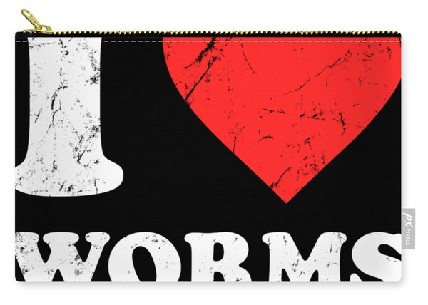 I Love Worms Carry-all Pouch