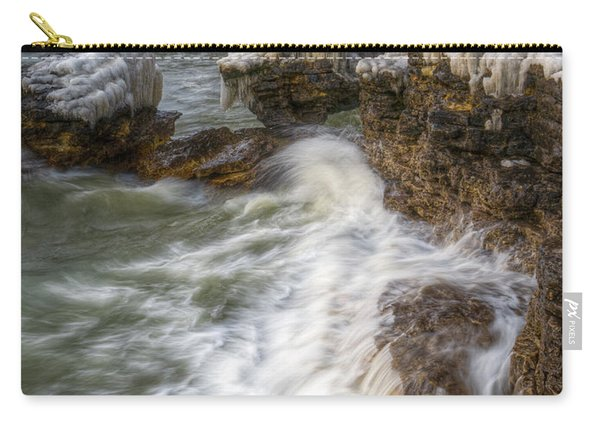 Ice And Waves Carry-all Pouch