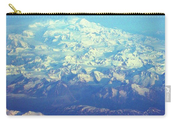 Ice Covered Mountain Top Carry-all Pouch