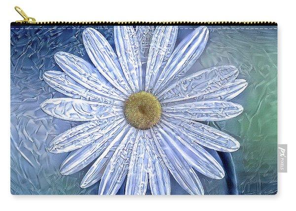 Ice Daisy Flower Carry-all Pouch