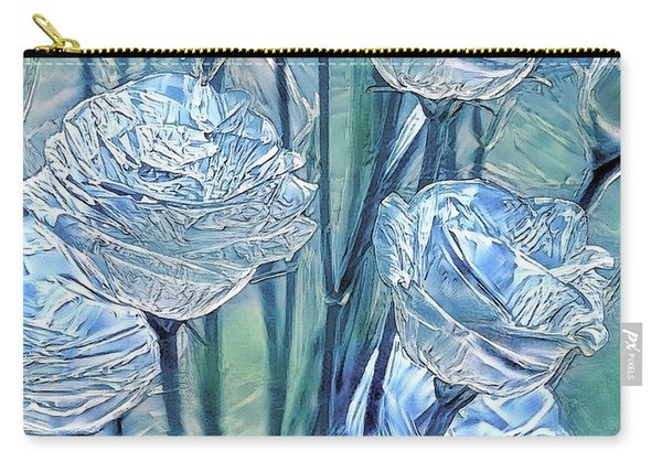 Ice Lisianthus Carry-all Pouch