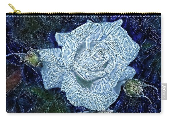 Ice Rose Carry-all Pouch