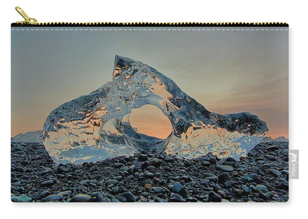 Iceland Diamond Beach Abstract  Ice Carry-all Pouch