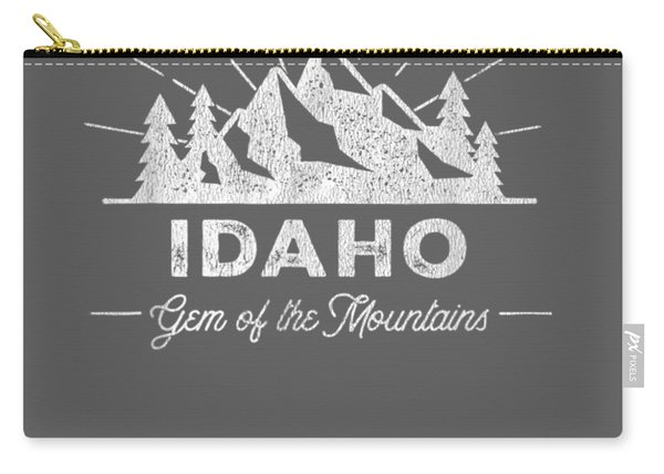 Idaho T Shirt Vintage Hiking Retro Tee Design Carry-all Pouch