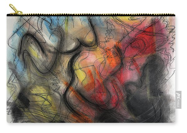 Carry-all Pouch featuring the pastel Ignis Sacrificium by Mark Jordan