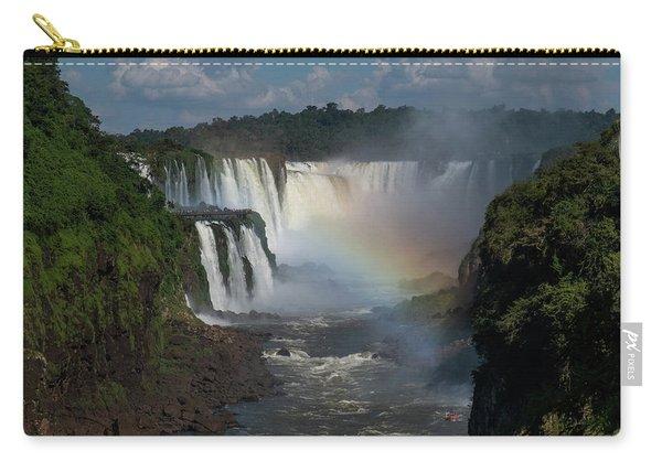 Iguazu Falls With A Rainbow Carry-all Pouch