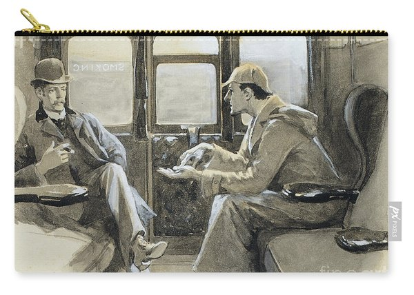 Illustration For The Sherlock Holmes Story The Adventure Of Silver Blaze Carry-all Pouch