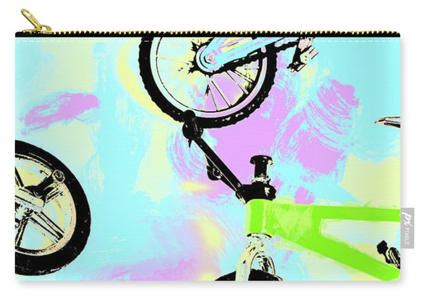 Illustrative Bike Pastel Carry-all Pouch
