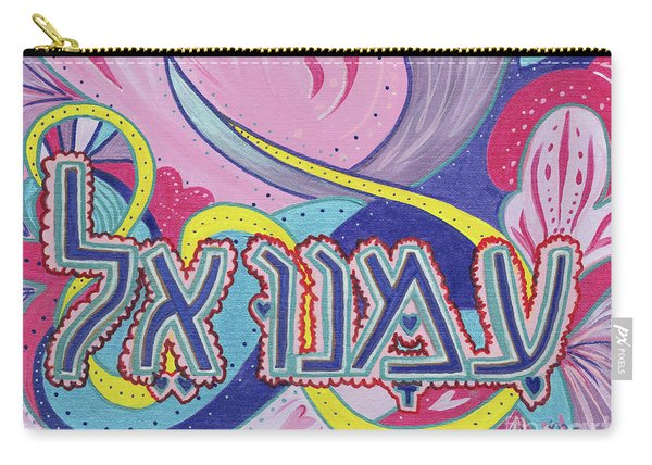 Carry-all Pouch featuring the painting Immanuel by Nancy Cupp