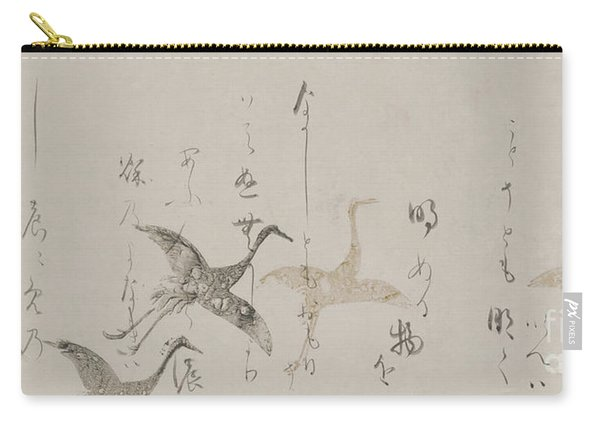 Imperial Anthology, Kokinshu, Momoyama Or Edo Period  Carry-all Pouch