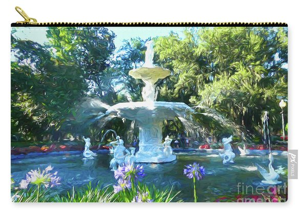 Impressionist Forsyth Park Fountain Carry-all Pouch
