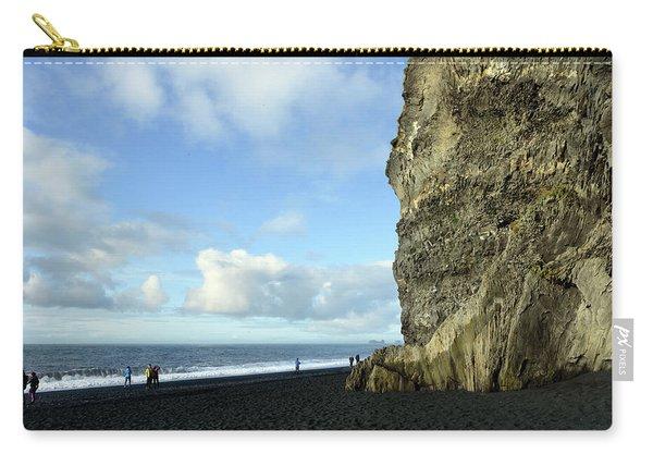Impressive Cliffs On Reynisfjara Black Beach Carry-all Pouch