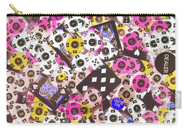 In Casino Colors Carry-all Pouch