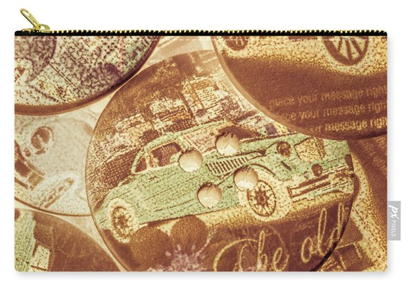In Fashion Of Classic Cars Carry-all Pouch