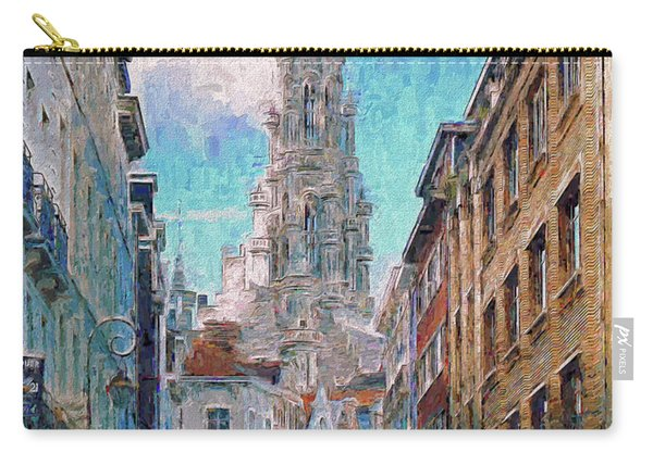 In-spired  Street Scene Brussels Carry-all Pouch