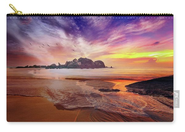 Incoming Tide At Sunset Carry-all Pouch