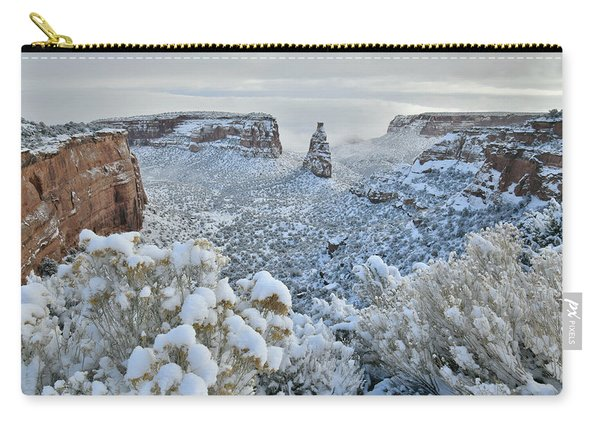 Independence Monument In Snow Carry-all Pouch