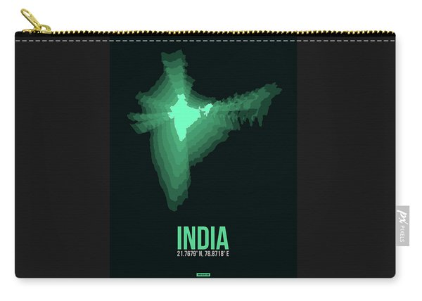 India Radiant Map 3 Carry-all Pouch