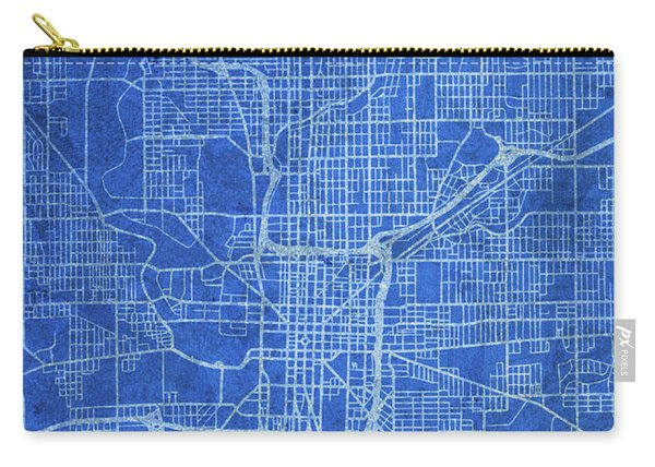 Indianapolis Indiana City Street Map Blueprints Carry-all Pouch