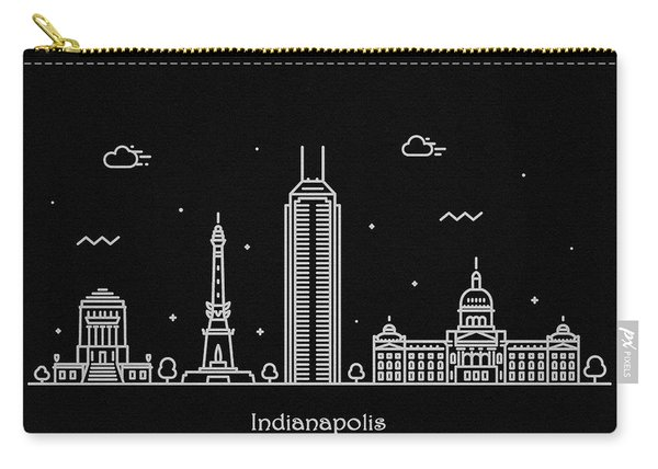 Indianapolis Skyline Travel Poster Carry-all Pouch