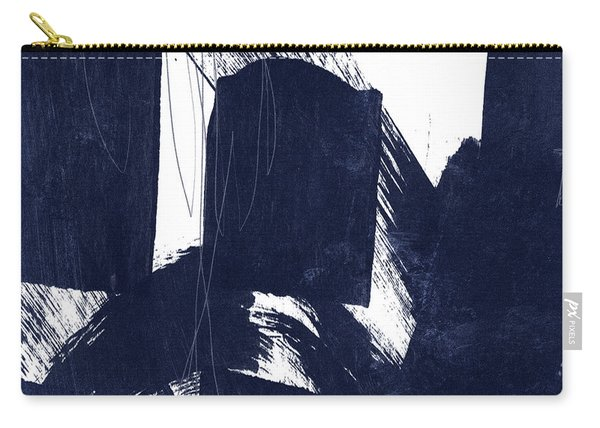 Indigo Abstract- Art By Linda Woods Carry-all Pouch