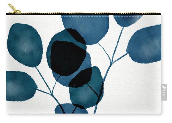 Indigo Eucalyptus 3- Art By Linda Woods Carry-all Pouch