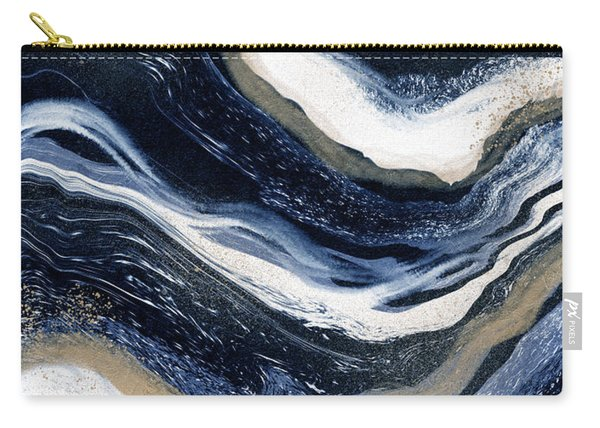 Indigo Flow- Art By Linda Woods Carry-all Pouch