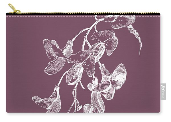 Inflorescence Purple Flower Carry-all Pouch