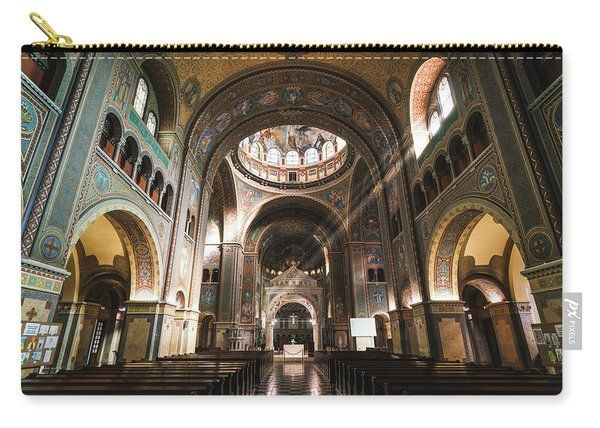 Interior Of The Votive Cathedral, Szeged, Hungary Carry-all Pouch