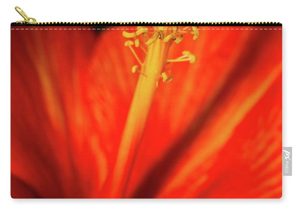 Carry-all Pouch featuring the photograph Into A Flower by Dheeraj Mutha
