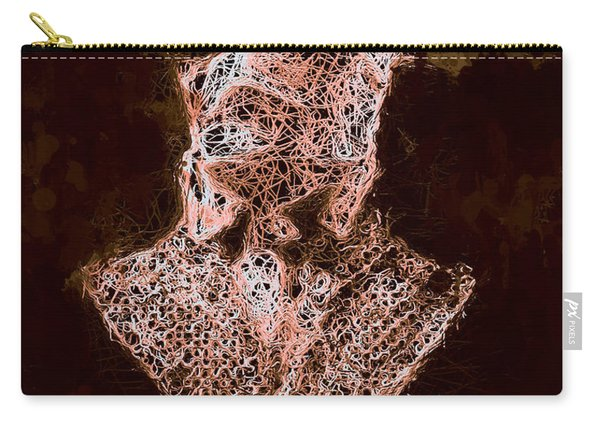 Carry-all Pouch featuring the mixed media The Invisible Man by Al Matra