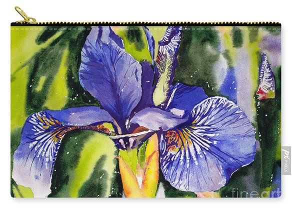 Iris In Bloom Carry-all Pouch