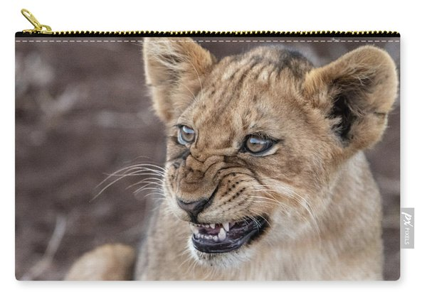 Irritated Lion Cub Carry-all Pouch