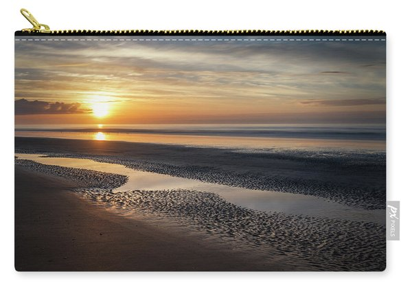 Carry-all Pouch featuring the photograph Isle Of Palms Morning Patterns by Donnie Whitaker