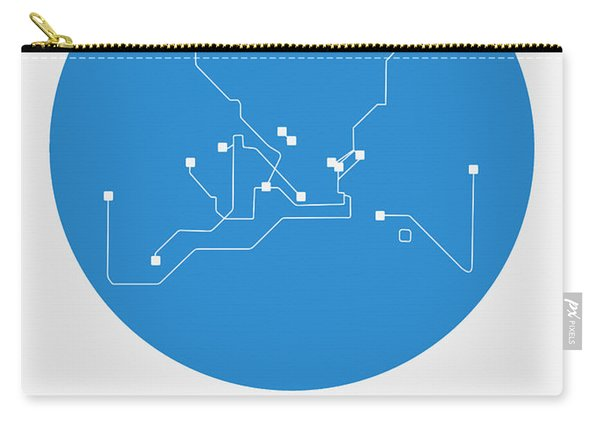 Istanbul Blue Subway Map Carry-all Pouch