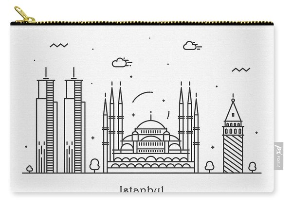 Istanbul Cityscape Travel Poster Carry-all Pouch