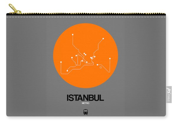 Istanbul Orange Subway Map Carry-all Pouch