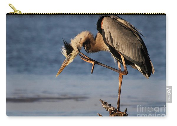 Itchy - Great Blue Heron Carry-all Pouch