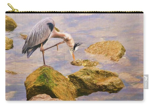 Itchy  Neck Heron Carry-all Pouch
