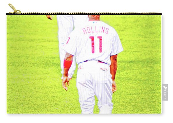 J Roll And The Big Piece, Ryan And Rollins, Phillies Greats Carry-all Pouch