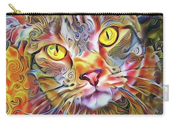 Jack The Tabby Cat Carry-all Pouch